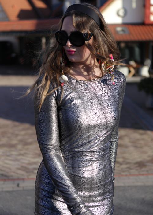Boho Maxi Kleid silver