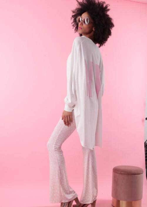 Boho Oversize Tunika Shirt WEISS