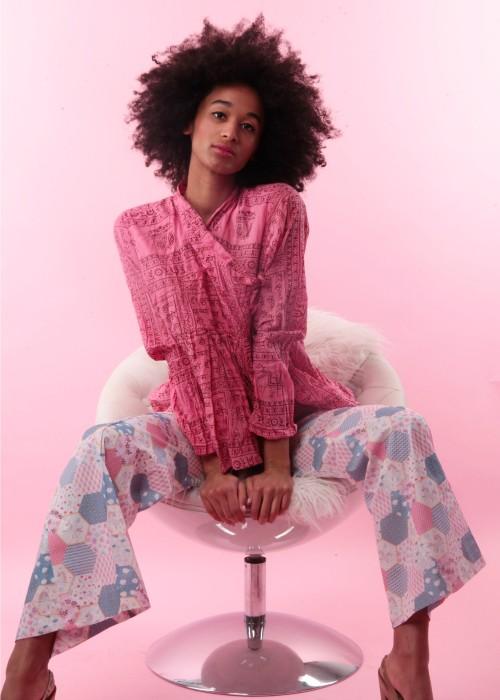 Bohemian Couture Jacke Gebetstuch Ultra Short pink