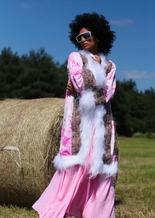 Boho Batik Mantel pink