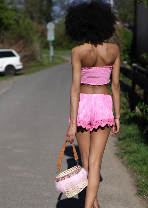 Boho Bikini-Set pink