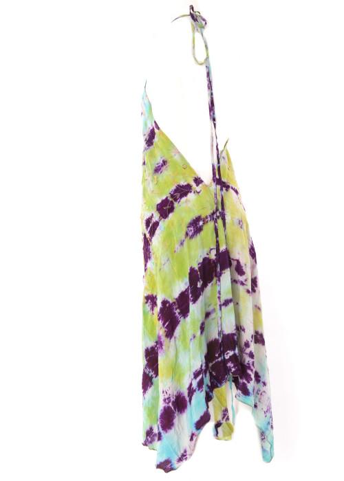 Boho Neckholderkleid Embroidery batik No2