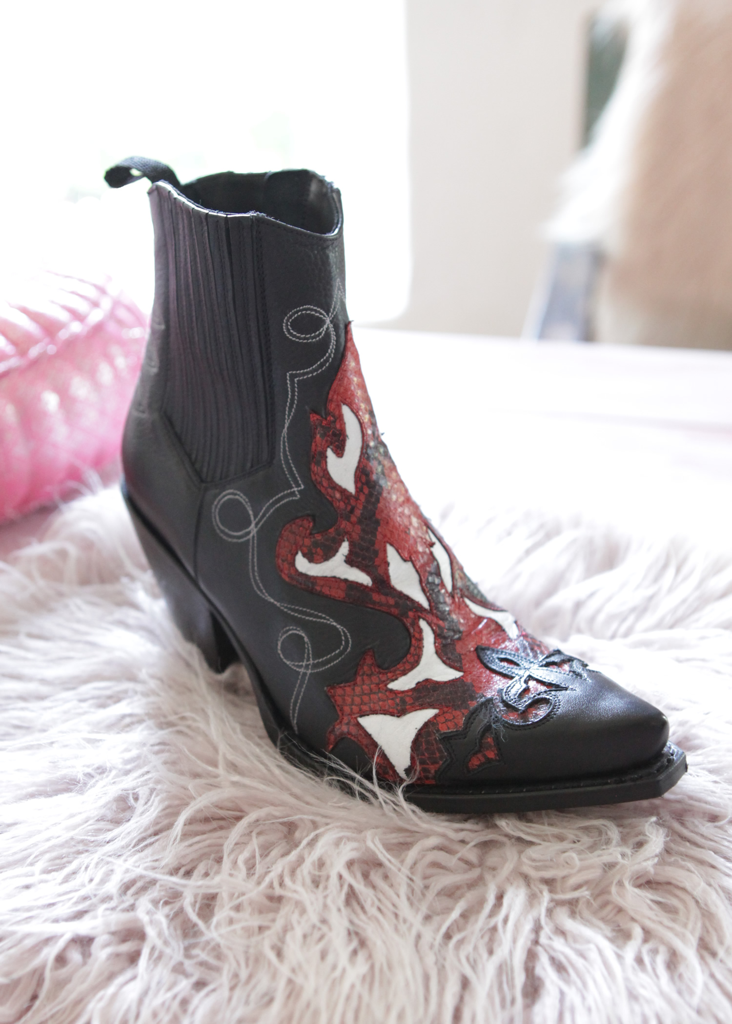 7c1e738769e Cowboy Boots Gorca black-red
