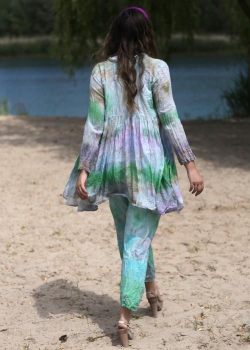 Bohemian Couture Jacke flieder grün