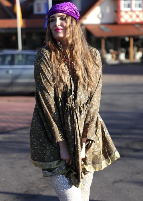 Bohemian Couture Jacke oliv