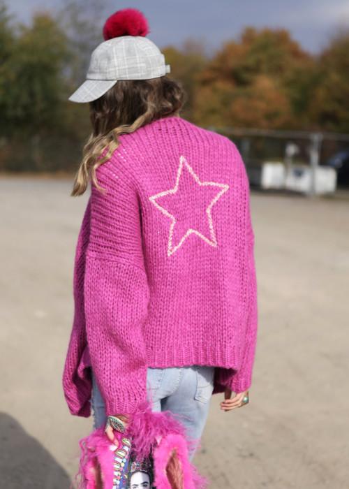 Baseballkappe Filz grau-pink