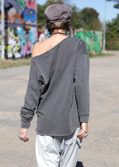 Oversize Sweatshirt Danger grau