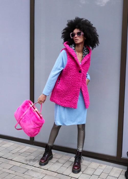 Boho Pop Weste Pink