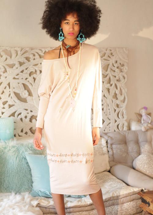 Boho Kleid Multiway beige