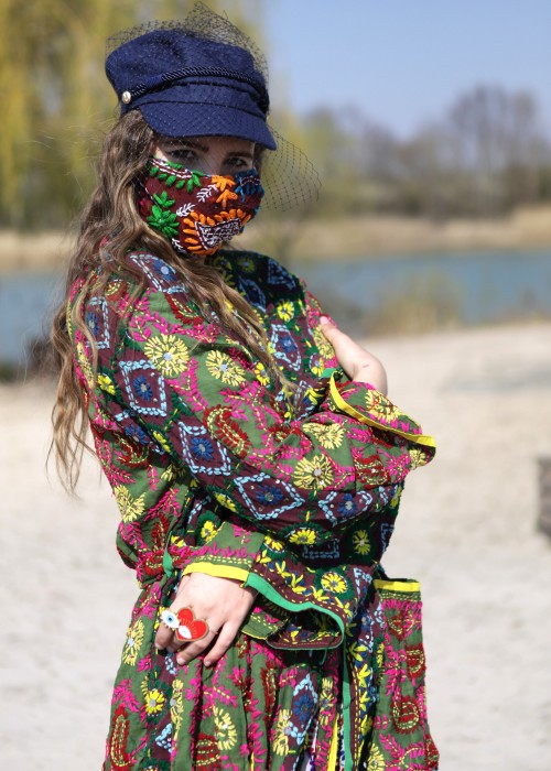 Boho Face Cover braun