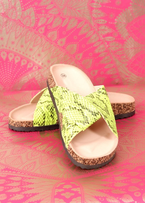 Boho Slipper Snake green