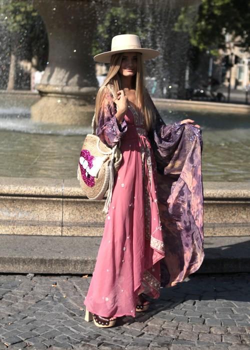 Boho Kimono Seide Laura 1