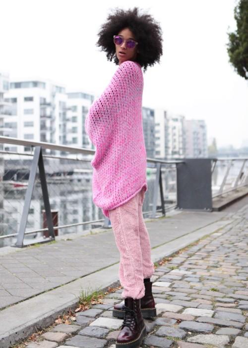 Boho Oversize Cardigan pink