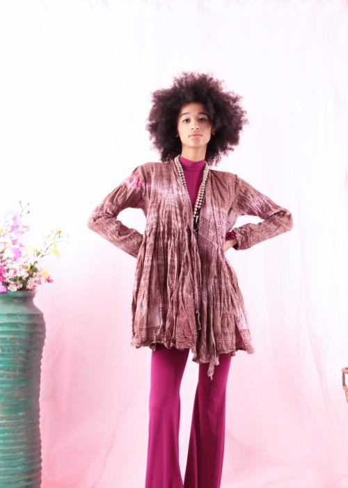 Bohemian Couture Jacke Gebetstuch Rose braun