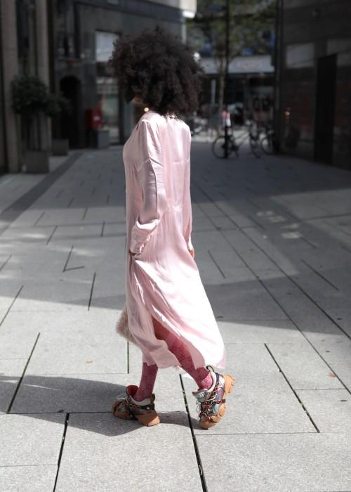 Hemdblusenkleid rosa