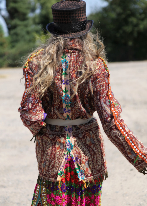 Boho Jacke Gypsy Paisley braun