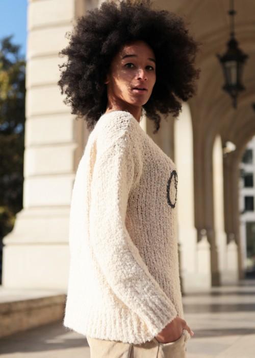 Boho Pullover beige
