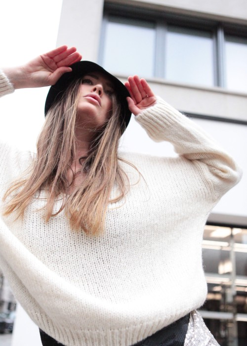 Boho Flash Pullover Future weiss