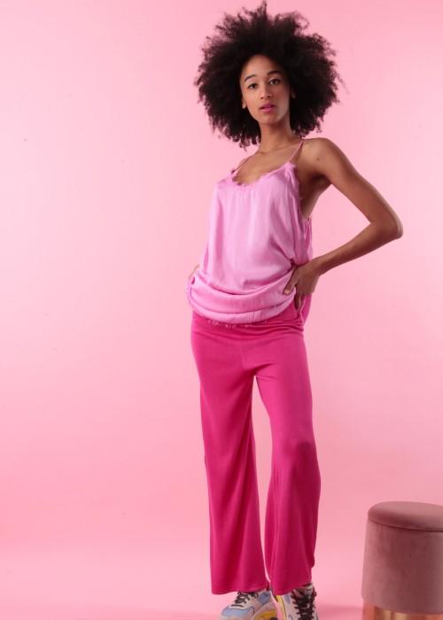 Sommer Strick Hose hot pink