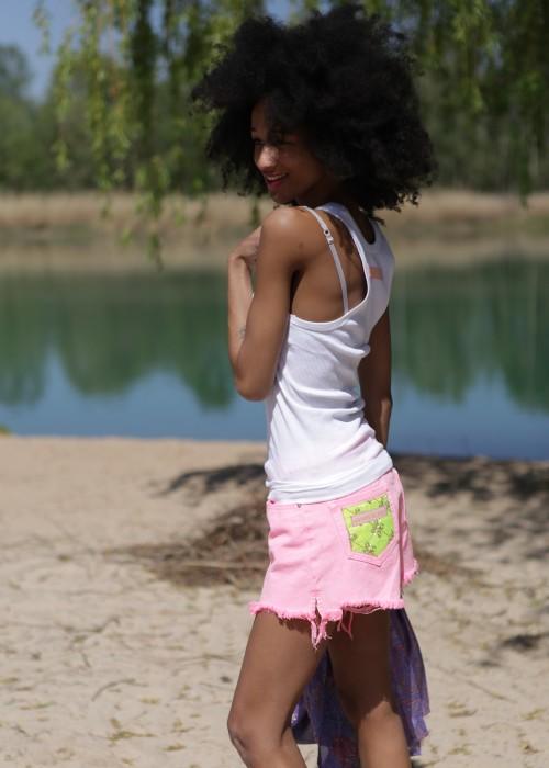 Bohemian Shorts Dog Pink