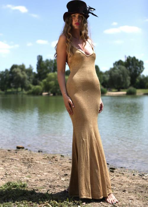 Maxikleid Naila gold