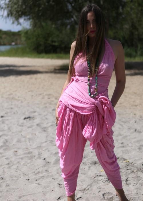 Bohemian Wickelkleid Candy Pink