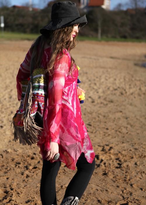 Boho Kleid Tunika Fiona Chiffon