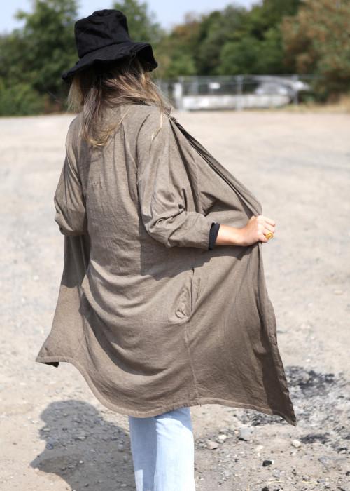 Kimono Sweatmantel braun