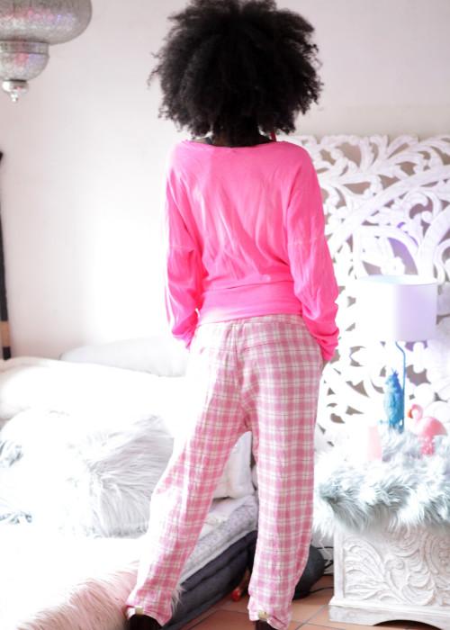 Sweathose Karo Pink