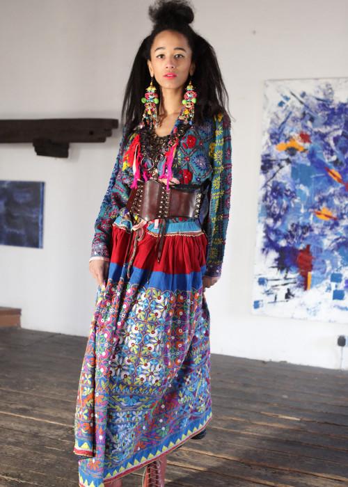 Boho Maxirock Embroidery No1