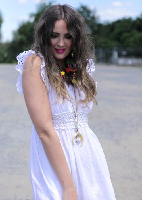 Boho Kleid Lace weiss