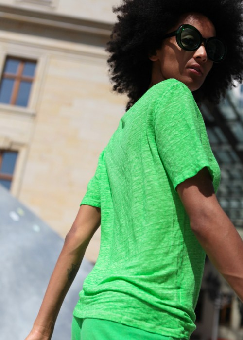 T-Shirt Good Vibes grün