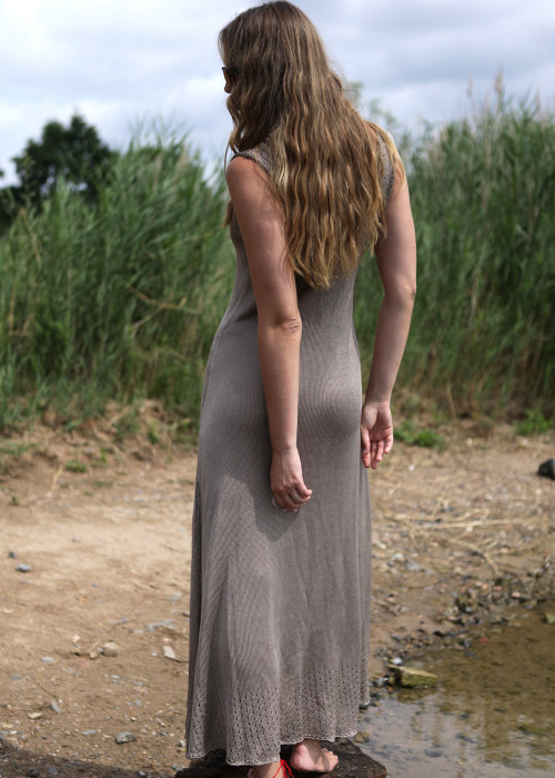 Maxikleid Alessandra taupe