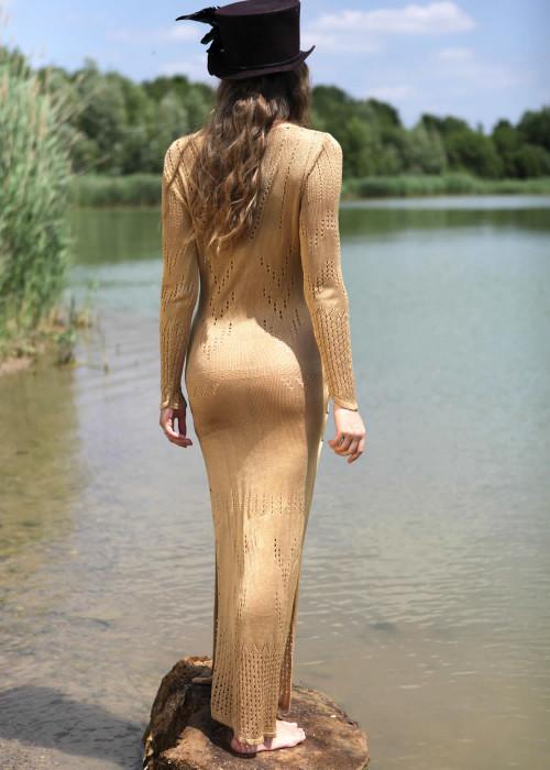 Maxikleid Giada gold