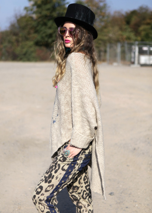 Oversize Pullover Mohair Peace beige