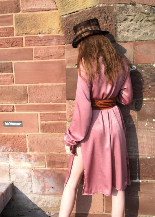 Boho Tunika Kleid rose