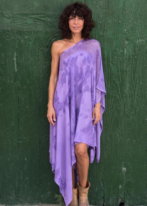 Poncho Batik lila