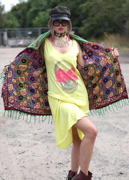 Boho Jacke Gypsy Stripes gruen