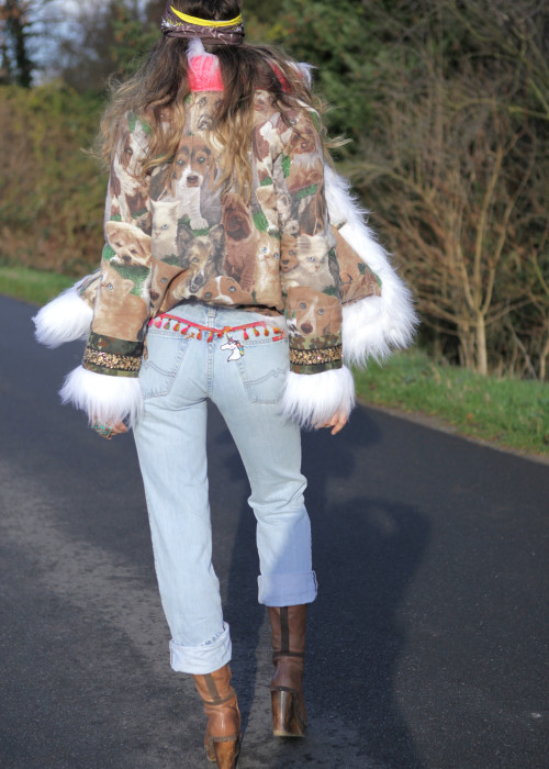 Boyfriend Vintage Jeans Mustang Rainbow