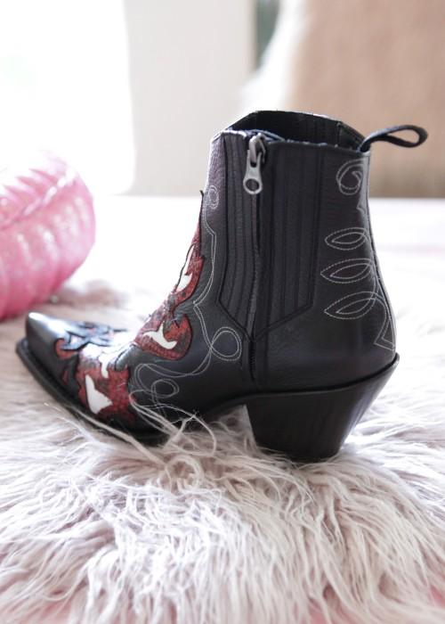 Cowboy Stiefel Gorca schwarz-rot