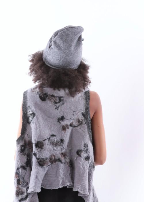 Beanie grau-schwarz