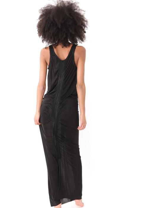 Maxikleid Organic Silk schwarz