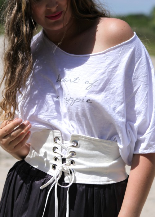 Ocersize Shirt Hippie weiss