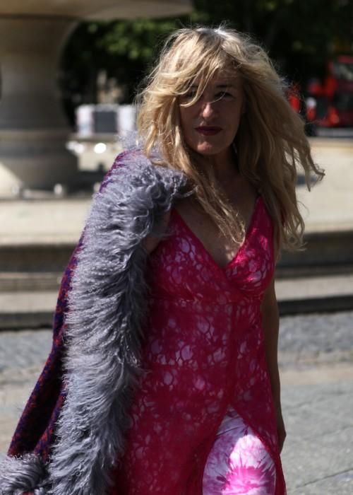 Boho Maxi Kleid Lace Pink