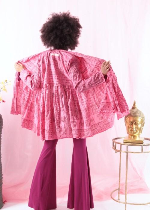 Bohemian Couture Jacke Gebetstuch pink