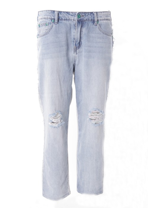 Destroyed Boyfriend Jeans double