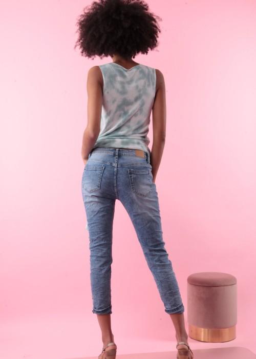 Boot Cut Jeans Vintage blau