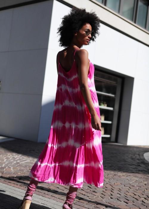 Boho Empire Kleid Batik Pink