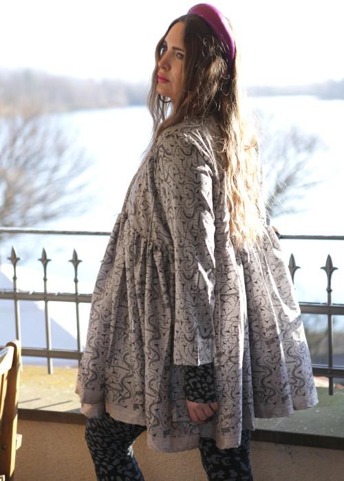 Bohemian Couture Jacke grau