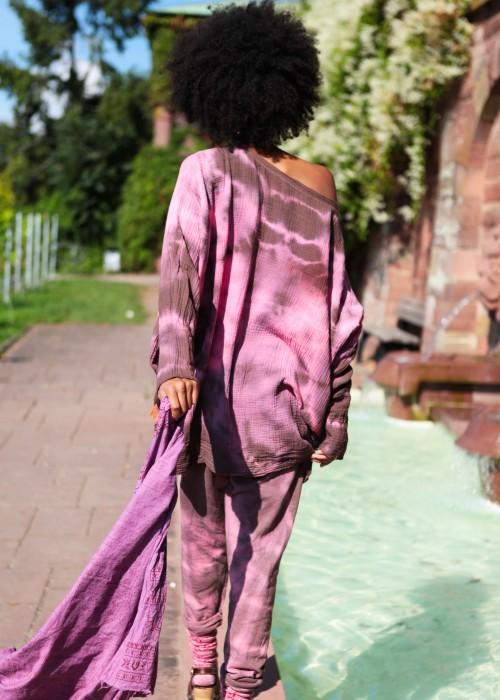 Bohemian Batik Fledermaus Sweater
